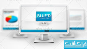 دانلود قالب پاور پوینت شرکتی Blued