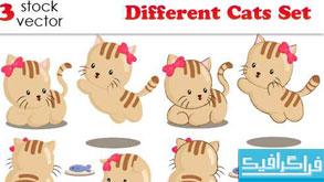 دانلود وکتور های گربه مختلف