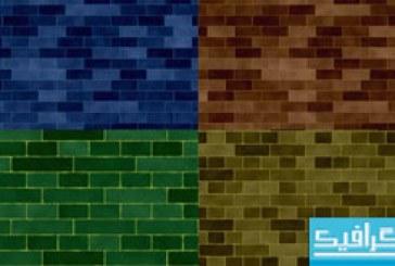 دانلود تکسچر دیوار های آجری رنگی