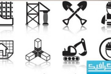 دانلود آیکون های ساخت و ساز – رنگ سیاه