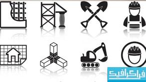 دانلود آیکون های ساخت و ساز - رنگ سیاه