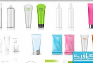 دانلود وکتور بسته بندی محصولات آرایشی