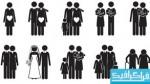 دانلود آیکون های خانواده - بصورت سایه