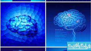 دانلود وکتور های مغز انسان