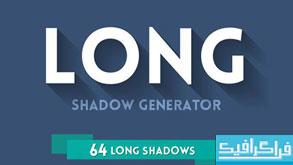 فایل لایه باز ساخت آیکون با سایه بلند