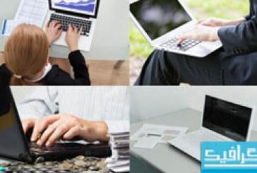 دانلود تصاویر استوک کار کردن با لپ تاپ