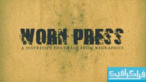 دانلود فونت انگلیسی Worn Press
