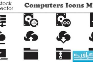 دانلود آیکون های کامپیوتر – رنگ سیاه