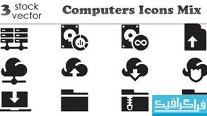 دانلود آیکون های کامپیوتر - رنگ سیاه