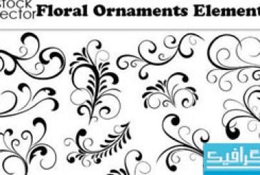 دانلود وکتور طرح های گلدار تزئینی – شماره 3