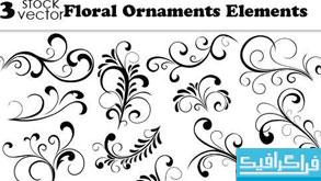 دانلود وکتور طرح های گلدار تزئینی - شماره 3