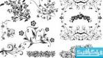 دانلود وکتور طرح های گلدار تزئینی - شماره 4