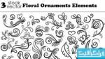 دانلود وکتور طرح های گلدار تزئینی - شماره 5