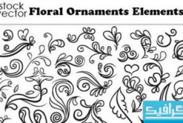 دانلود وکتور طرح های گلدار تزئینی – شماره 5