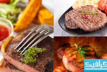 دانلود تصاویر استوک استیک گوشت