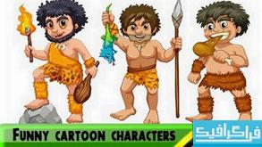 دانلود وکتور شخصیت های کارتونی بامزه - شماره 2