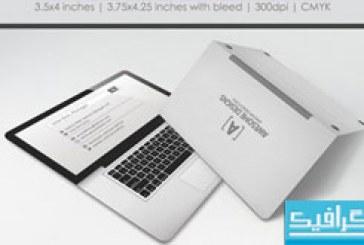 دانلود کارت ویزیت طرح لپ تاپ – تاشو