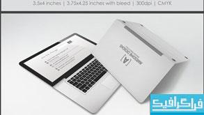 دانلود کارت ویزیت طرح لپ تاپ - تاشو