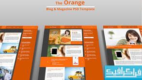 دانلود قالب psd سایت مجله - خبری The Orange
