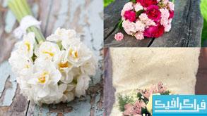 دانلود تصاویر استوک دسته گل عروس