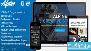 دانلود قالب HTML سایت تک صفحه ای Alpine