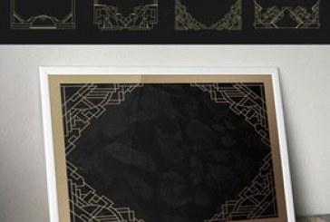 دانلود وکتور قاب های هنری دکو – تزئینی