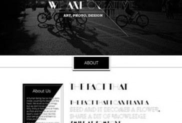 دانلود قالب psd سایت تک صفحه ای – سیاه و سفید