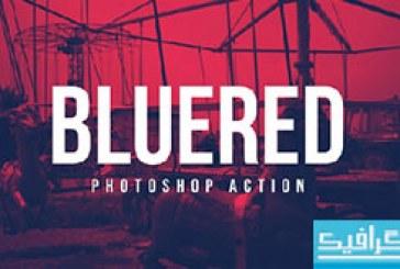 دانلود اکشن فتوشاپ افکت Bluered