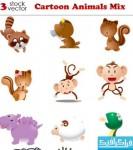 دانلود وکتور حیوانات کارتونی - شماره 2
