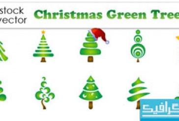 دانلود وکتور های درخت کریسمس