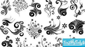 دانلود وکتور طرح های گلدار تزئینی - شماره 6
