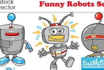 دانلود وکتور روبات های خنده دار