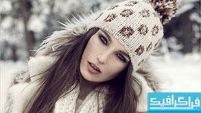 دانلود والپیپر دختر با کلاه زمستانی