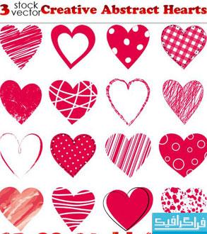 دانلود وکتور های قلب - طرح انتزاعی