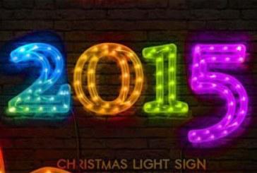 اکشن فتوشاپ ساخت نور های LED کریسمس