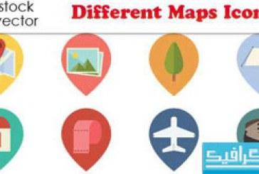 دانلود آیکون های نقشه – مختلف
