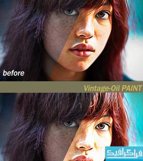 دانلود 5 اکشن فتوشاپ نقاشی رنگ روغن