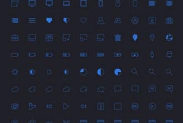 دانلود 100 آیکون ساده – رنگ آبی