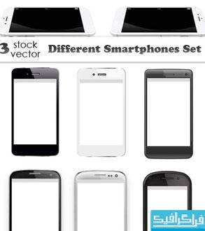 دانلود وکتور تلفن های هوشمند - مختلف