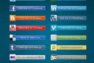 دانلود فایل لایه باز نشان های شبکه اجتماعی