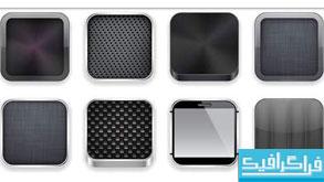 دانلود وکتور دکمه های مربعی فلزی