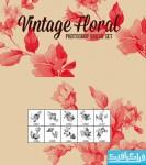 دانلود براش فتوشاپ طرح گل های قدیمی - شماره 3