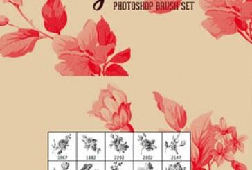 دانلود براش فتوشاپ طرح گل های قدیمی – شماره 3