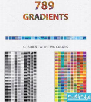 دانلود 789 گرادیانت رنگی ایلوستریتور