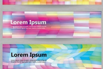 دانلود وکتور بنر های وب انتزاعی رنگارنگ
