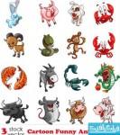 دانلود وکتور حیوانات کارتونی - شماره 3