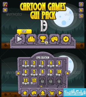 دانلود وکتور های رابط گرافیکی بازی موبایل