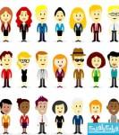 دانلود وکتور های مردم کارتونی