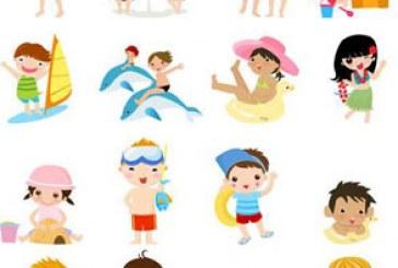 دانلود وکتور های کودکان در تابستان
