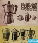 دانلود فایل لایه باز تصاویر قهوه ساز - ترسیمی